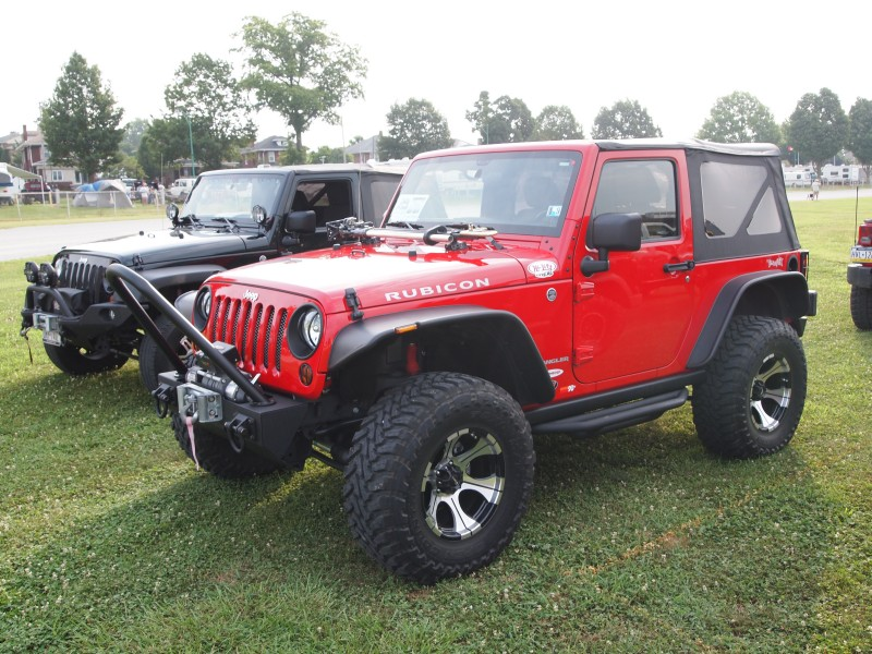 Red Jeep JK