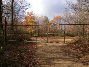 Access to the valley of trails closed off due to fracking operations