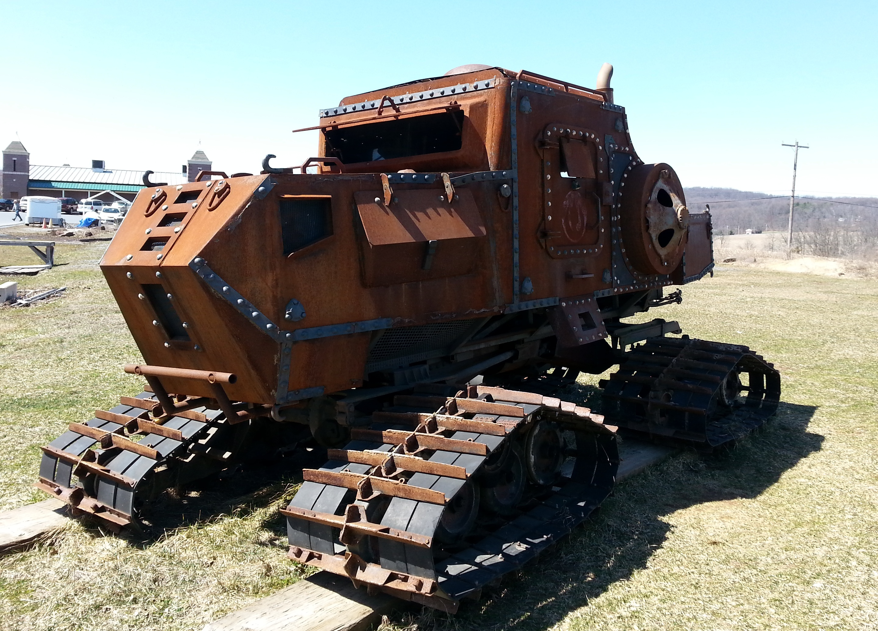 19th Century 4×4 cross between a Steam Shovel and a British Medium Mark A Whippet Tank
