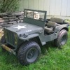 You'll be amazed at this Mini WWII Willys Military Jeep Go Cart with matching Bantam Trailer