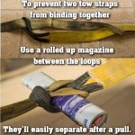 Connecting 2 Tow Straps