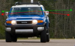 FJ Cruiser Mirrors Too Tall, can't see over them.