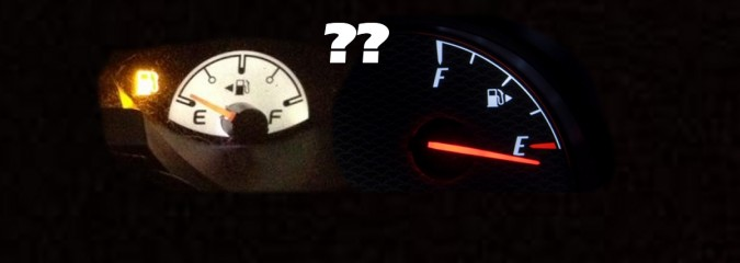 Gas Gauge Tip for the Unfamiliar or Forgetful