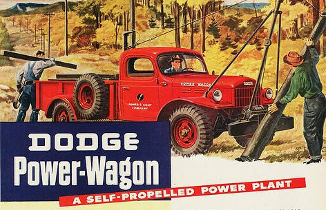 1946 Dodge Power Wagon advertisement.