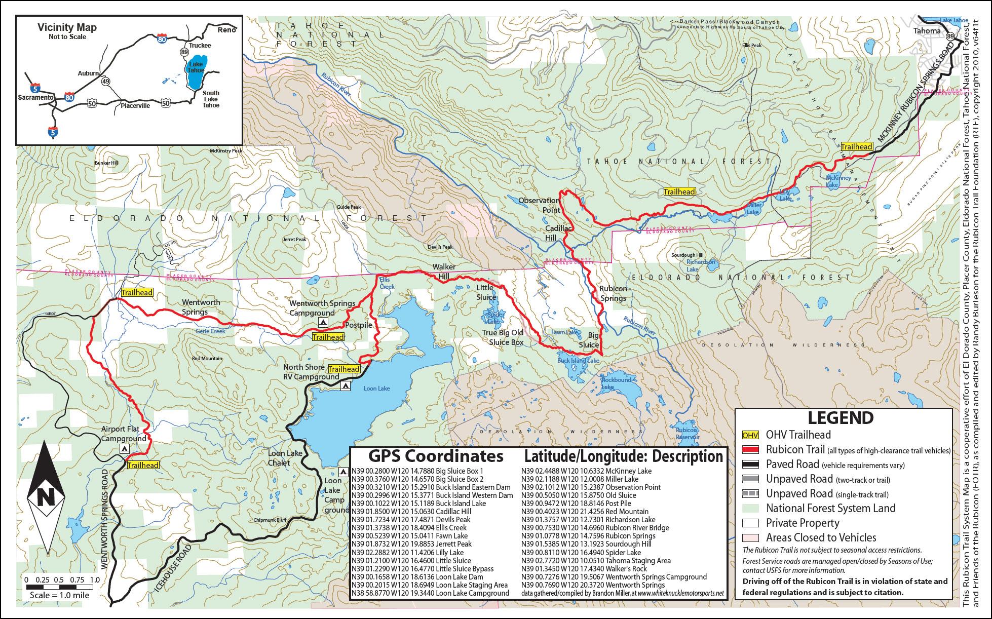 Top Trails In America Rubicon Trail Offroaders Com