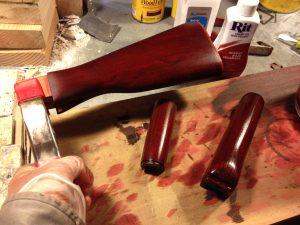 Rit Scarlet Red Dye on the AK-47 Furniture