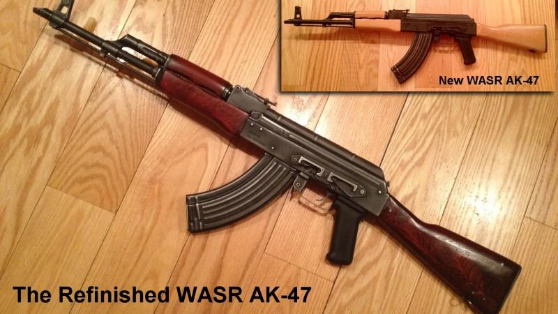 Refinishing & Distressing a Romanian WASR-10 AK-47 7.62x39mm Rifle