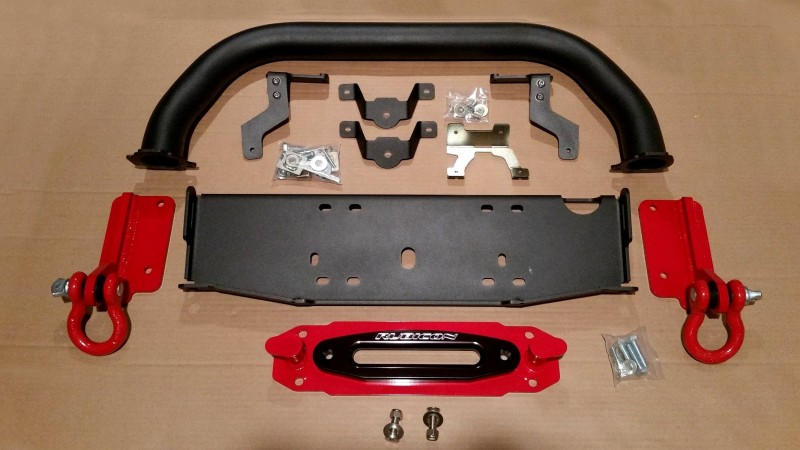 Installed on Project Rubicon X: Maximus-3 Winch Mount, Bumper Hoop, Hook Anchors & D-Ring Loops