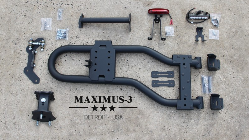 Upgrading to the Maximus-3 JK Modular Tire Carrier Sport Package