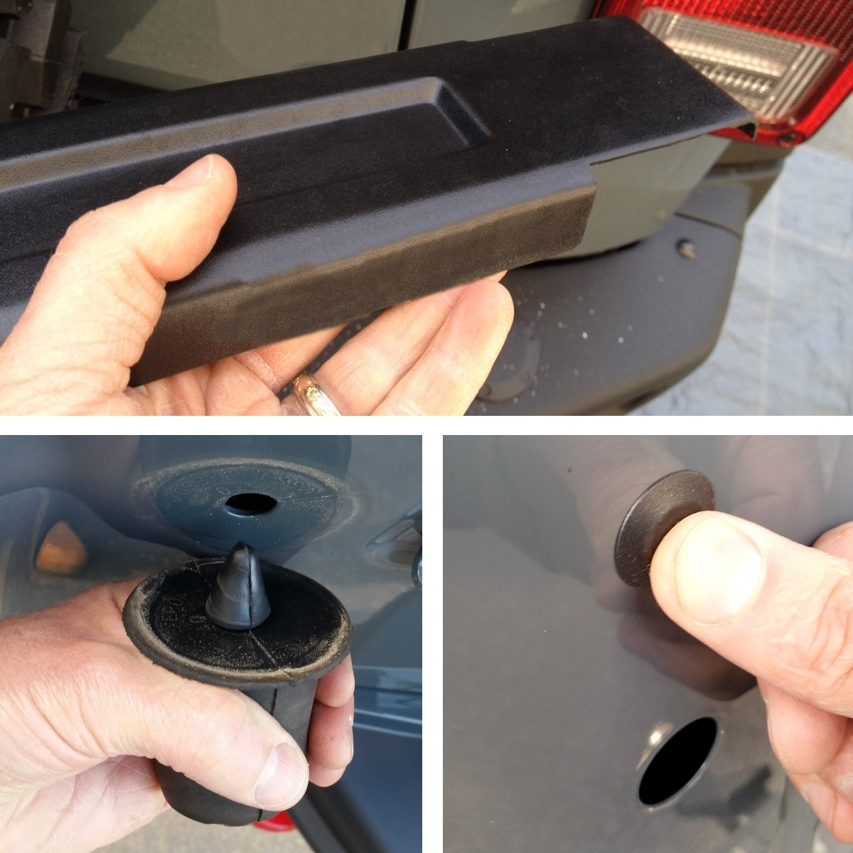 Remove-hinge-covers-rubber-tire-bumpers