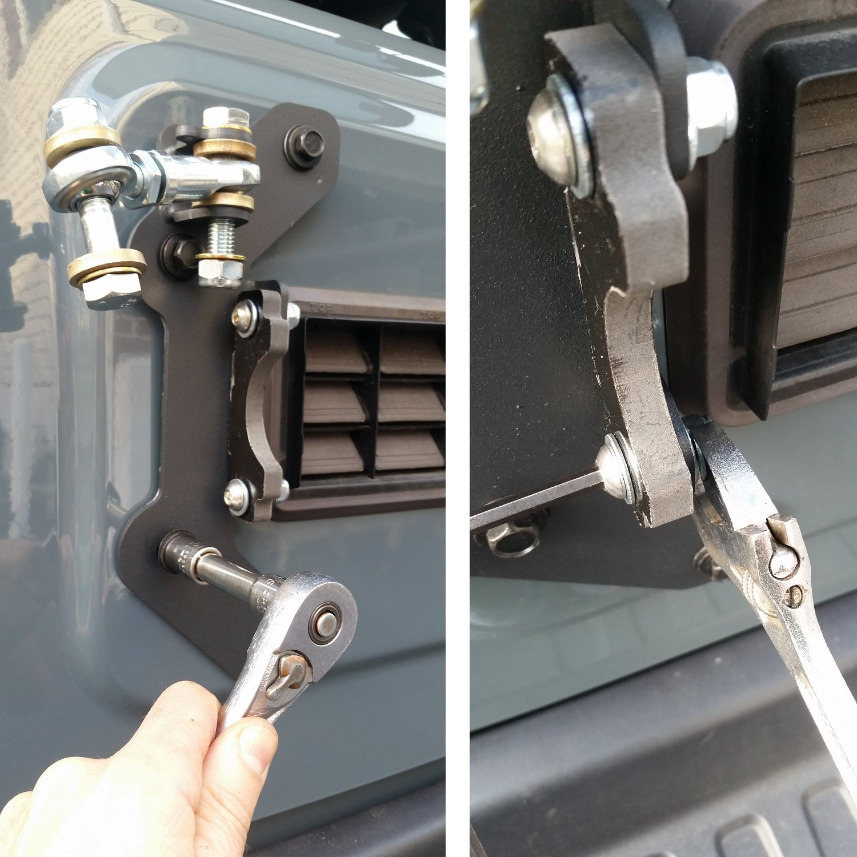 install-tie-rod-linkage-plate