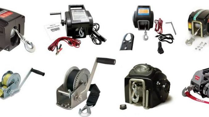 Electric marine winches
