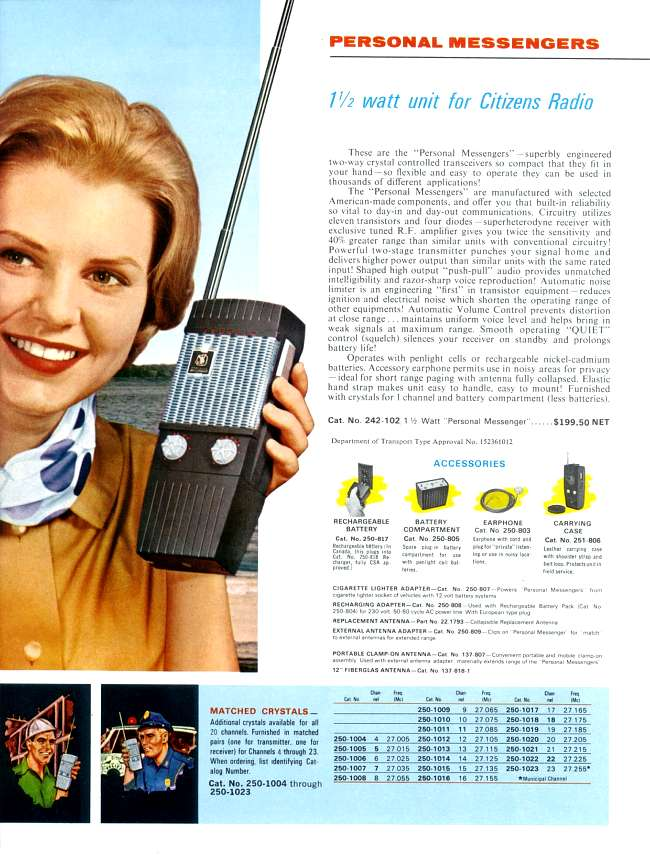 Johnson Messenger Crystal pair your choice of channel