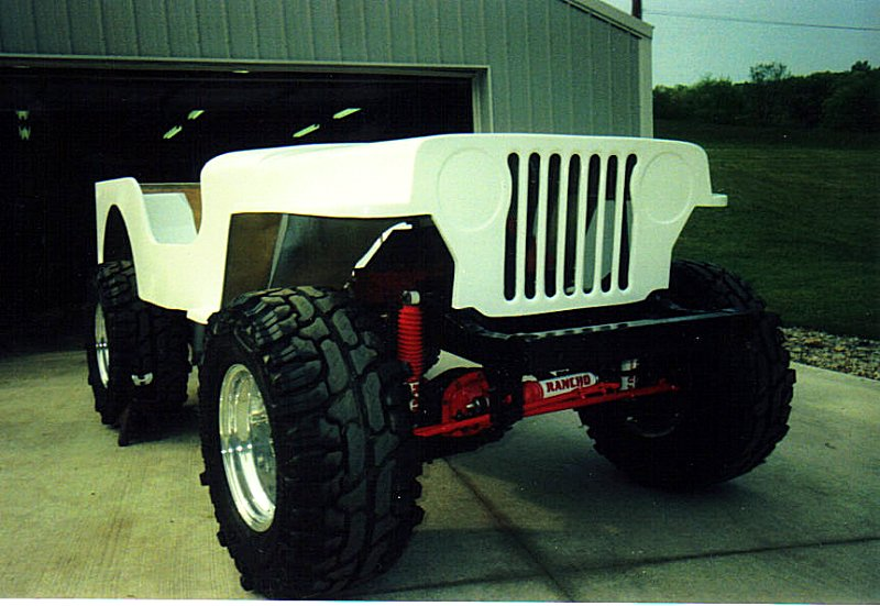 Mike Cool's CJ3A fiberglass body