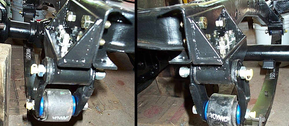 Jeep CJ-7 Axle Swap Custom Front Spring Hangers