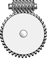 Winch worm gear