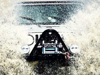 Jeep Wrangler making a splash