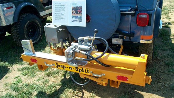 Jeep Willys Overland PTO mounted Log Splitter