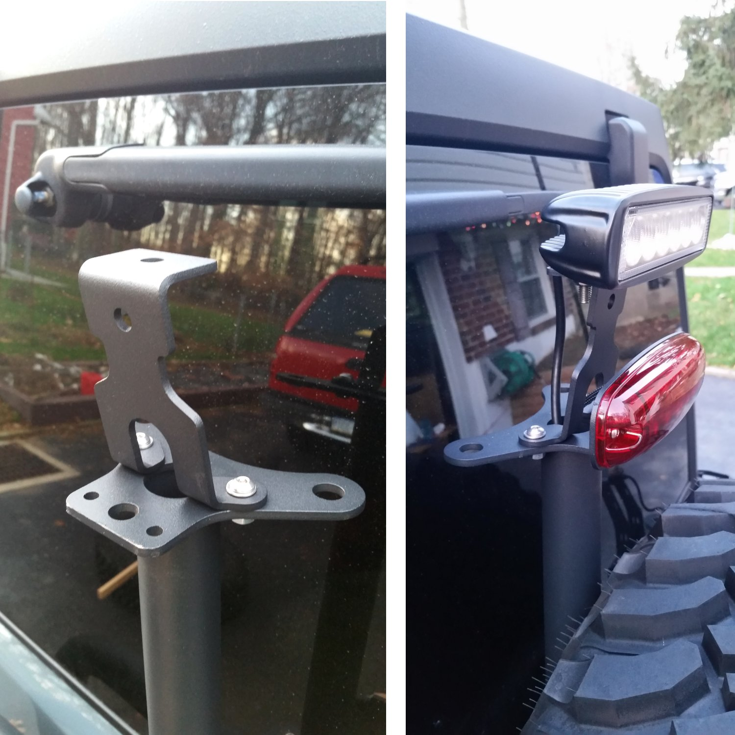 Maximus 3 Backup Led Light Install Review Jeep Wrangler Mounts Brake Bracket Mount