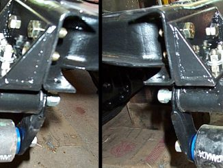 Jeep CJ-7 Axle Swap Custom Front Spring Hangers